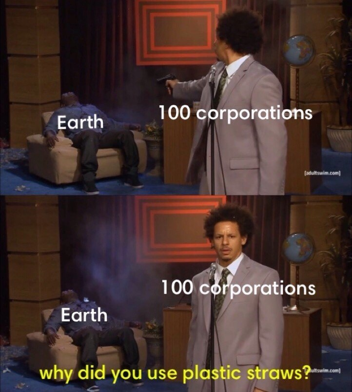 Funny meme about plastic straws, eric andre.