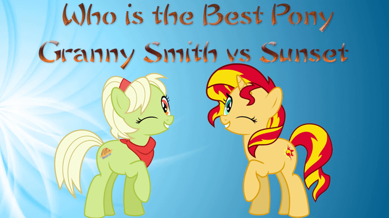 granny smith sunset shimmer best pony - 9240608768