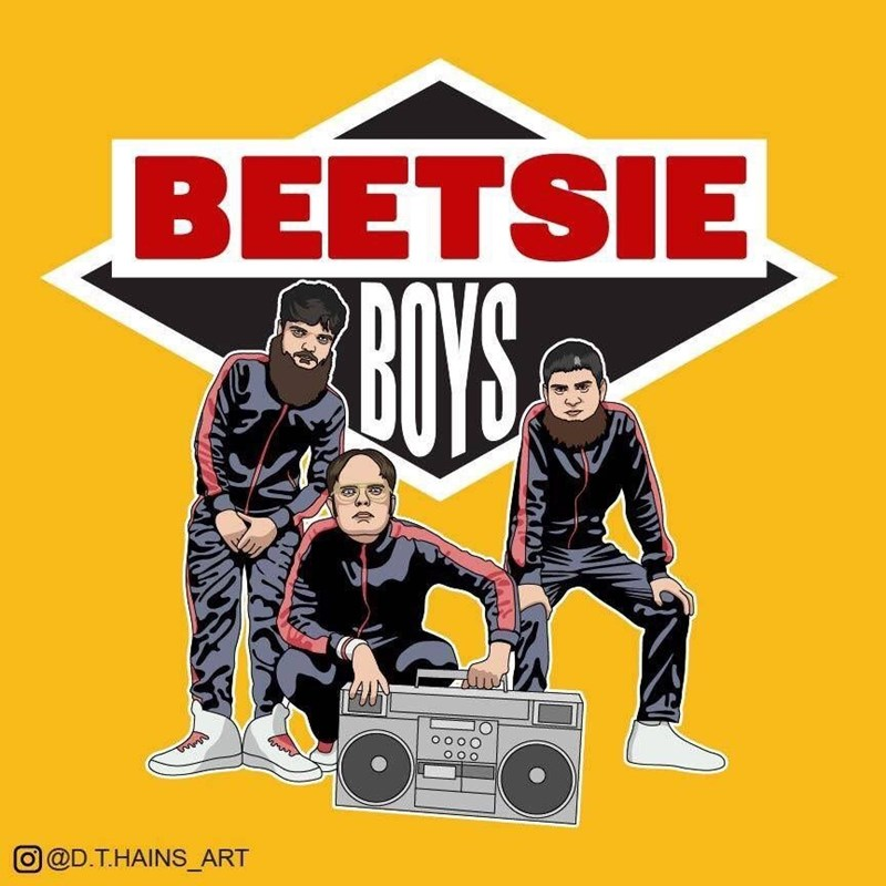 Run DMC drawn as The Beastie Boys