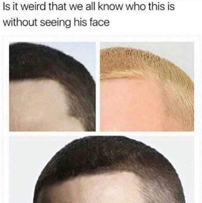 meme of recognizing Eminem by his hairline