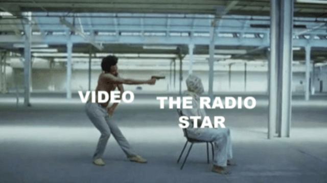video killed the radio star meme with Childish Gambino music video