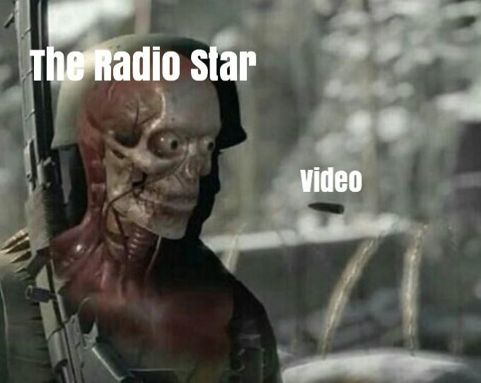 video killed the radio star meme with bullet headed toward soldier's head