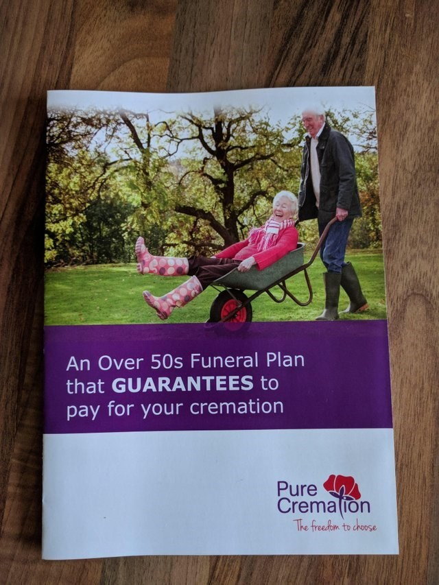 design fail ad for cremation services