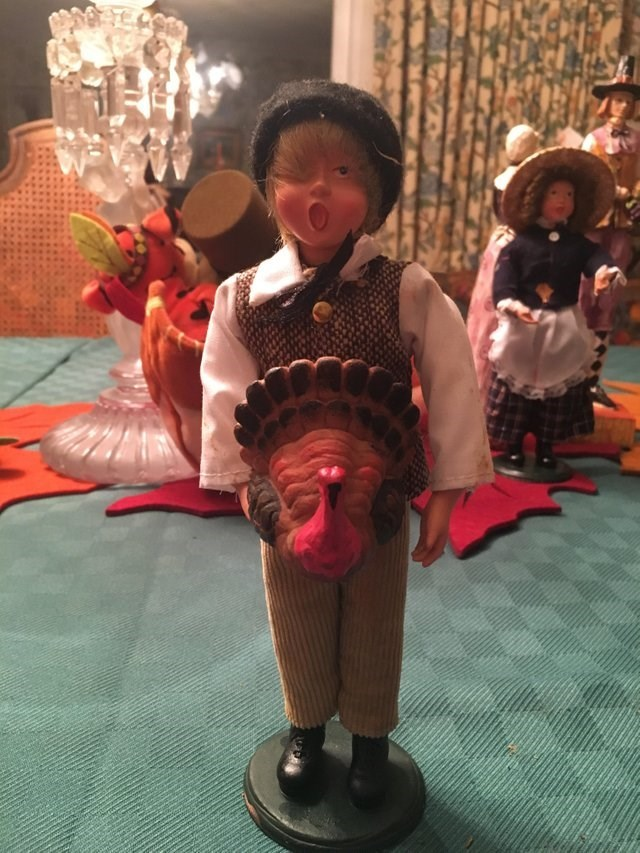 design fail of a doll with a turkey on the stomach area