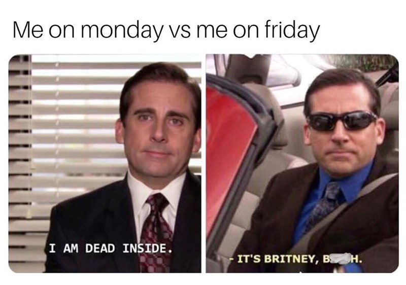 meme of Michael looking sad vs. feeling cool