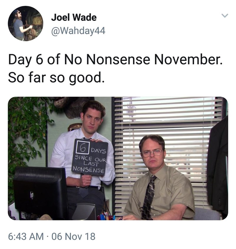 meme of Jim and Dwight not pulling pranks on each other