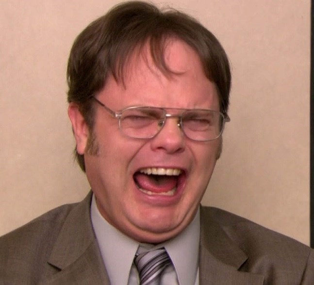 Dwight shrute from the office crying