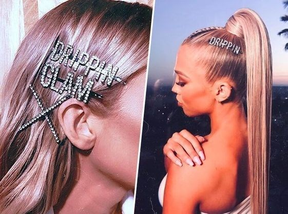 design fail of a hair clip that is missing the word ''glam''