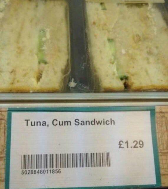 design fail for the name of a tuna sandwich