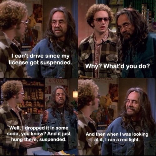 That 70S Show moment of Leo telling Hyde about how his license suspension