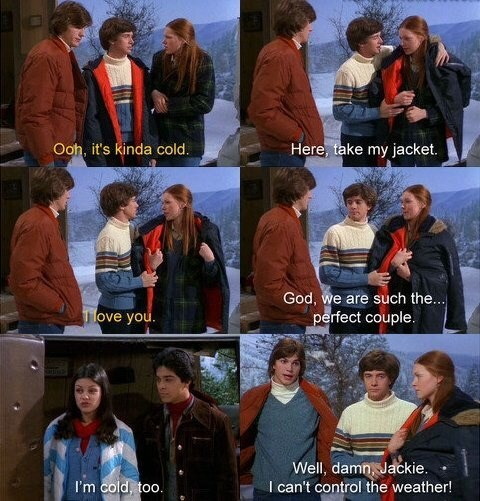 That 70S Show moment of Jackie getting jealous of Eric and Donna's relationship and Kelso not reciprocating