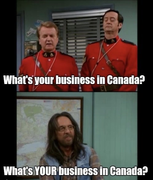 That 70S Show moment of Leo at the immigration office on the way to Canada