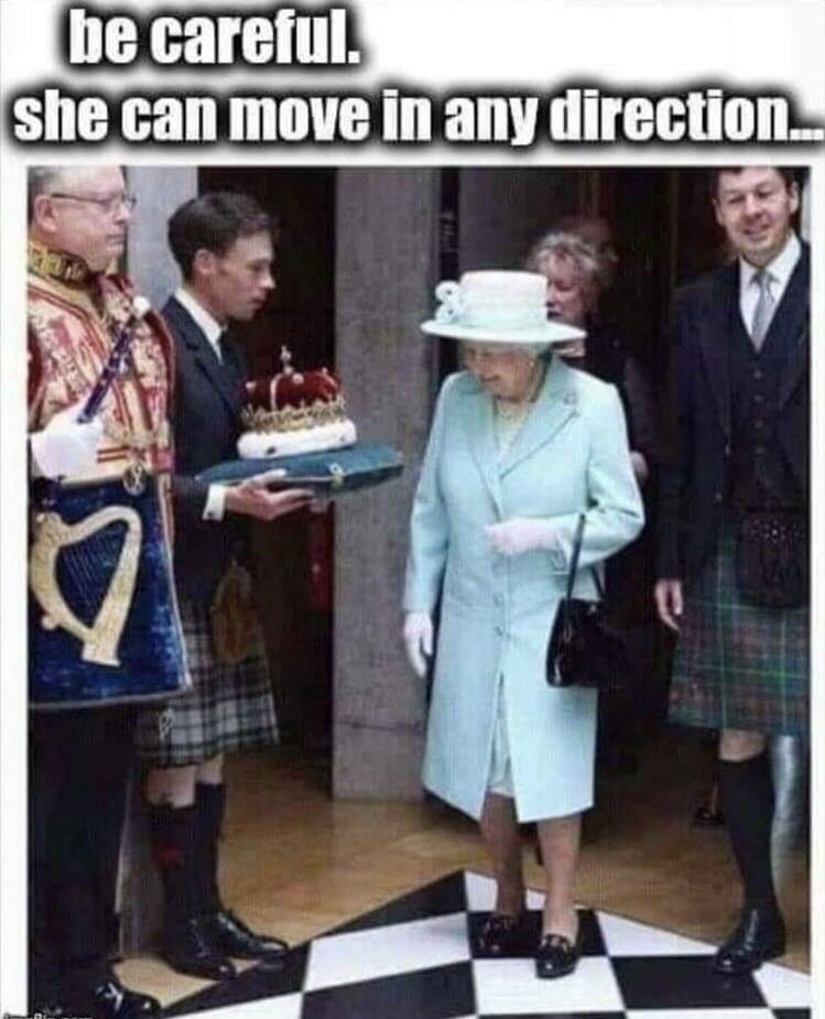 meme about queen elizabeth getting her crown