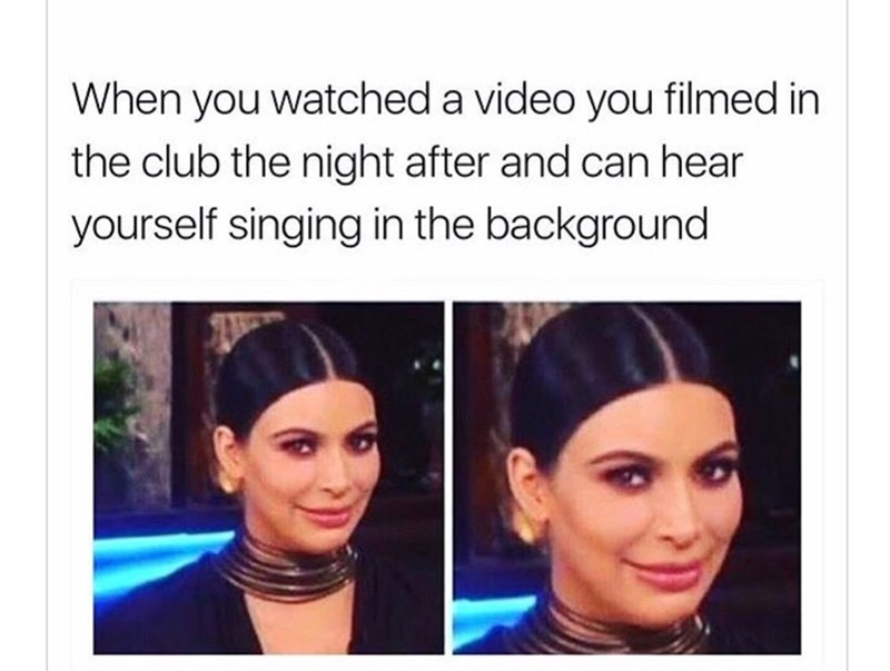 meme about hearing yourself sing and it's bad