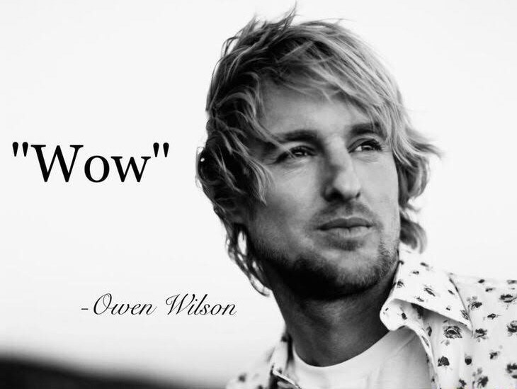 meme about how Owen Wilson says ''wow''