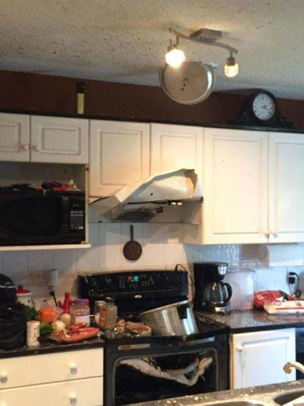 fail at cooking when to oven burns