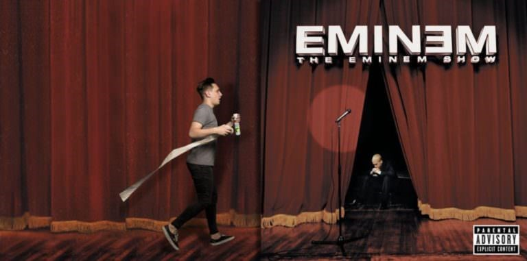 guy photoshopped into Eminem album cover to look like he's bringing him toilet paper