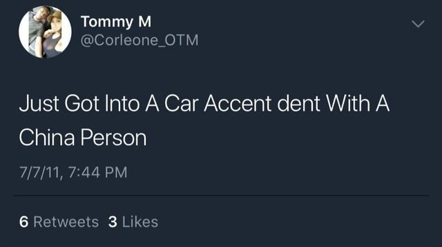 meme about misspelling the word accident in tweet