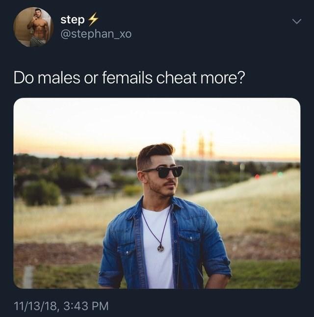 meme about misspelling the word females in a tweet