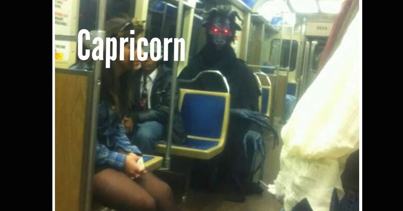 Funny pictures of people on the subway that represent different astrology signs