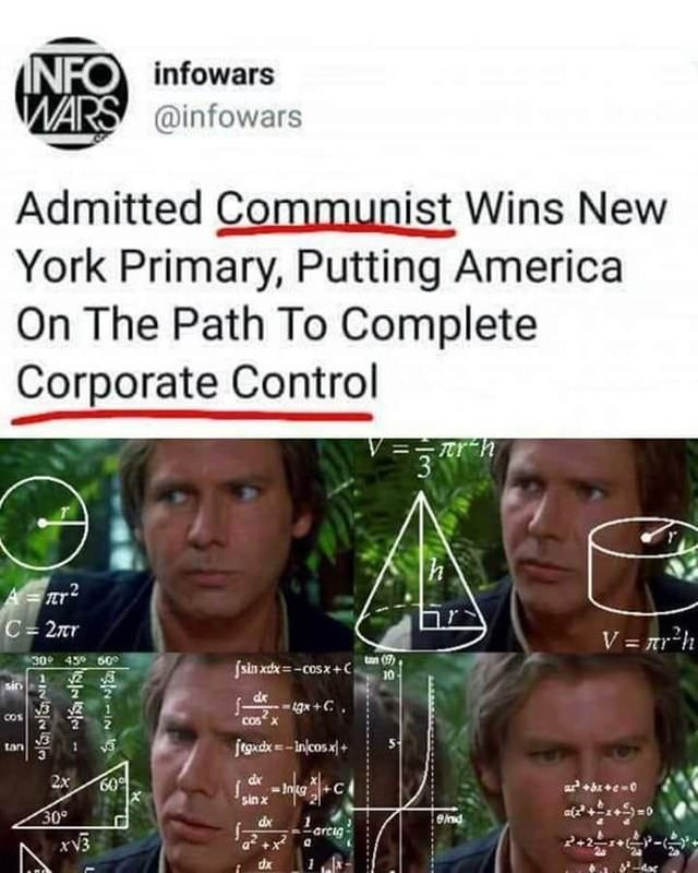 tweet post about communists controlling america by: @infowars