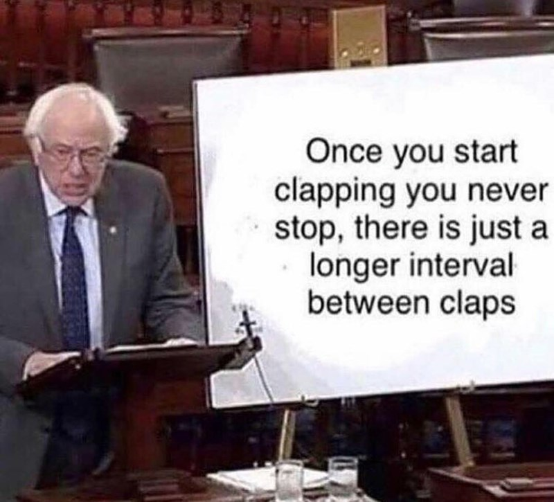 Bernie sanders meme about clapping and socialism