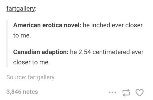 post about the differences between american and Canadian erotica novels