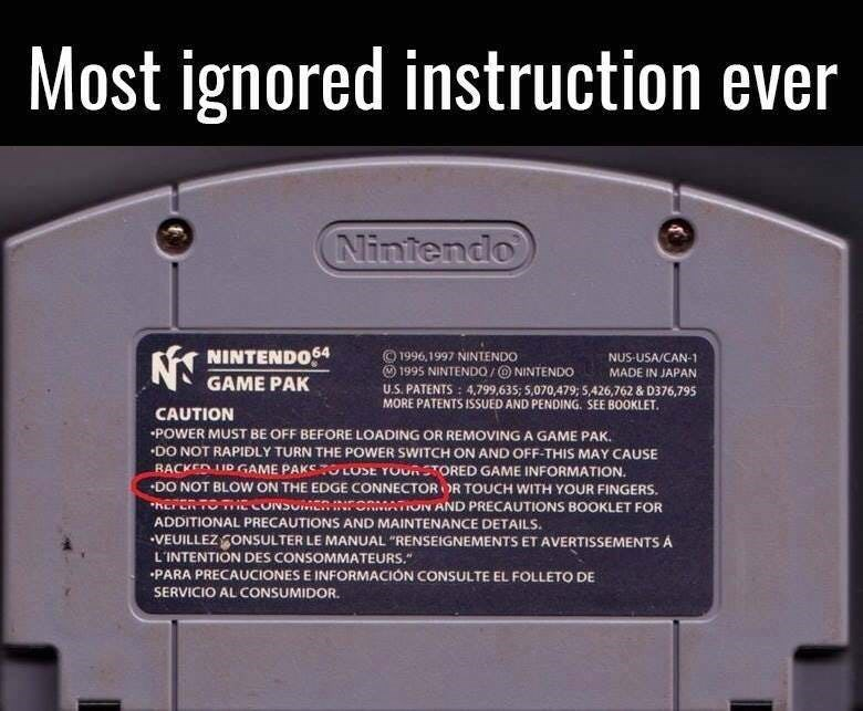 post about how everyone ignore the instruction on not to blow on the charging port
