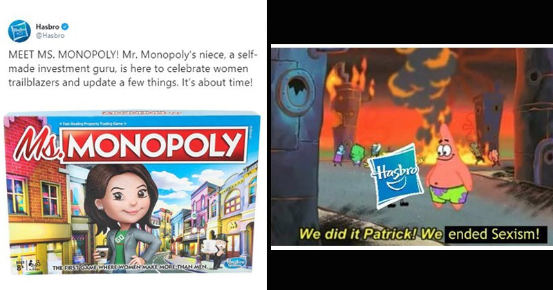 Funny reaction tweets about 'Ms. Monopoly,' a new version of the classic game 'Monopoly'