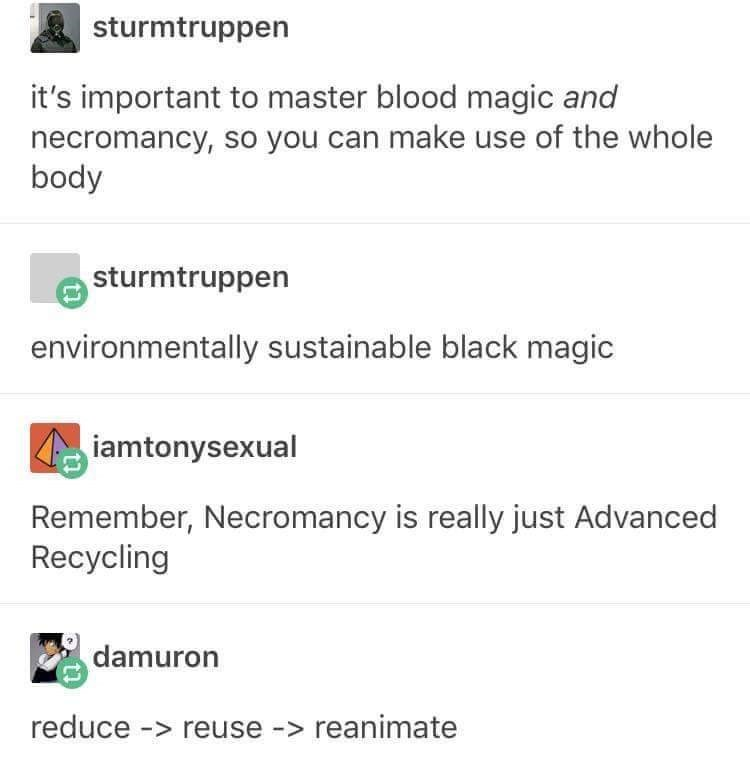 post about having environmentally sustainable magic