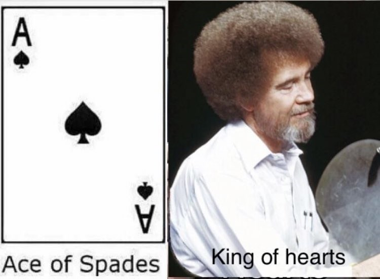 wholesome meme about Bob Ross and his fulfilling life