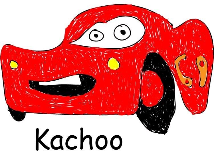 lightning McQueen from cars sneezing