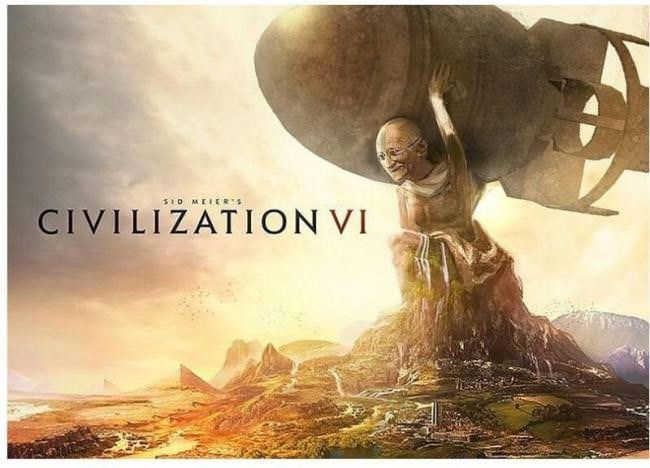 gaming meme about Gandi and the Civilization video game