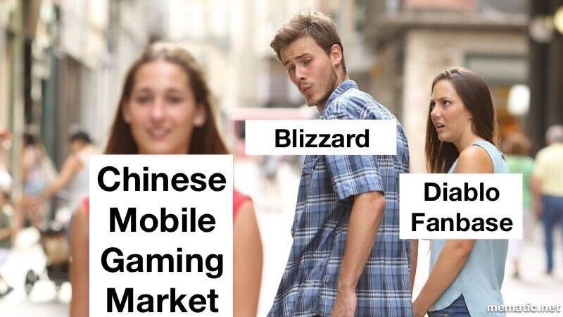 gaming meme about giving attention to the Chinese mobile gaming market
