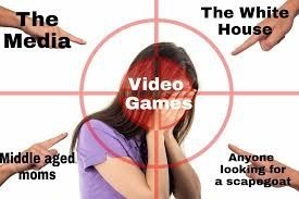 gaming meme about everyone attacking video games