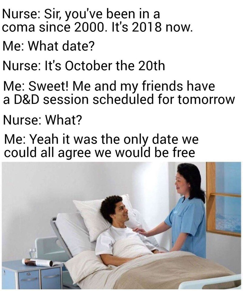 meme about how hard it is for a group to decide on a date everyone can be free on