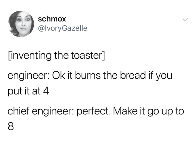 tweet post about the invention of the toaster