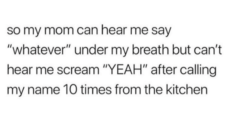 post about a mom hearing whatever you whisper
