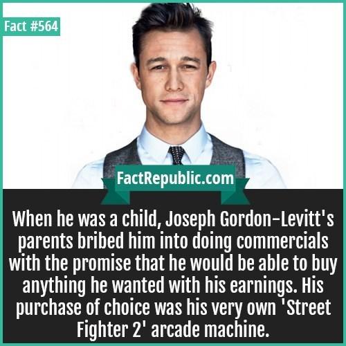weird fact about Joseph Gordon Levitt's childhood