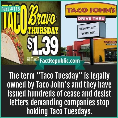 weird fact about Taco Tuesday