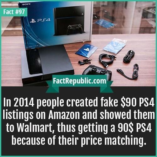 weird fact about gamers scamming Walmart