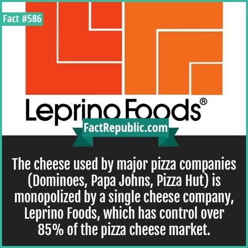 weird fact about the cheese market