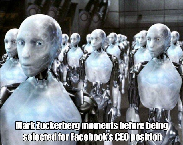 Sculpture - Mark Zuckerbergmoments before being selected for Facebook's CEO position