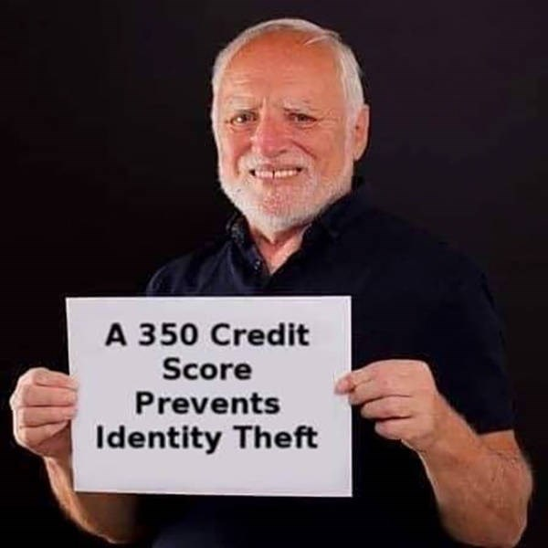 Finger - A 350 Credit Score Prevents Identity Theft