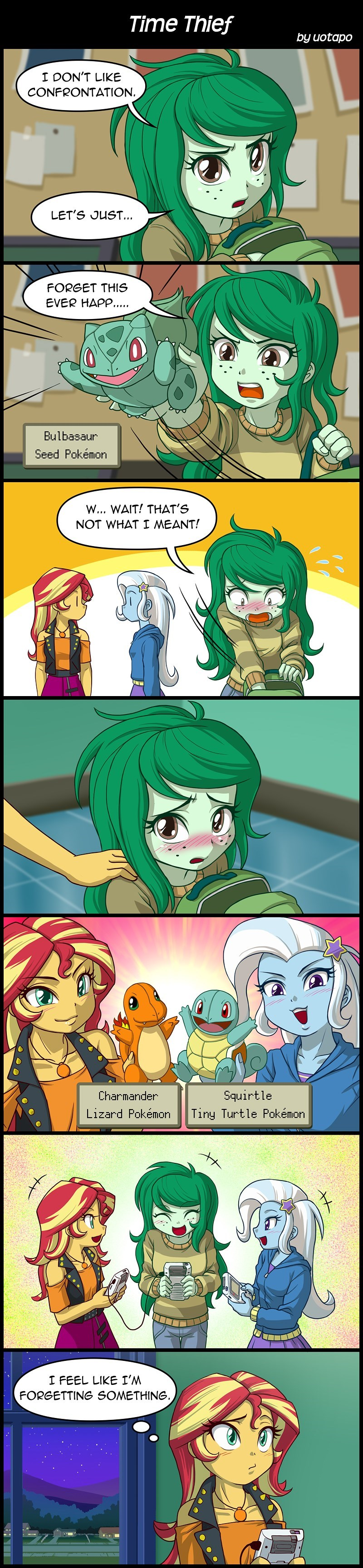 forgotten friendship the great and powerful trixie Pokémon equestria girls uotapo bad end wallflower blush comic sunset shimmer - 9243580928