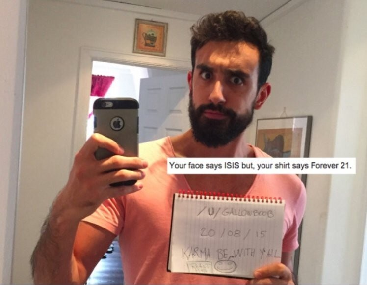 Reddit's r/roastme of a guy that looks like ISIS