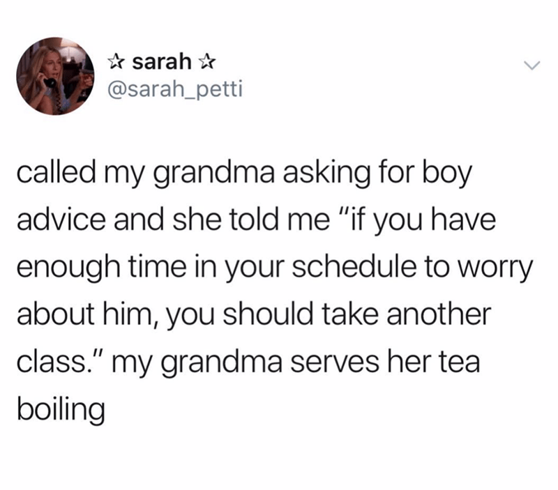 post about asking grandma for dating advice