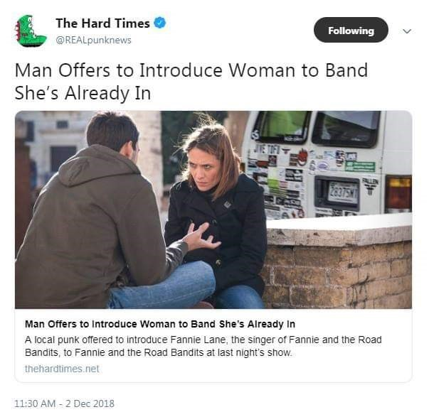 tweet post about telling a band member to join a band she is in already