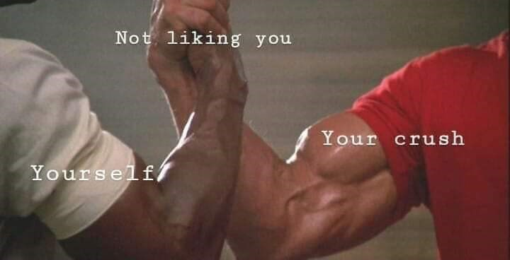 meme about how you and your crush both don't like you