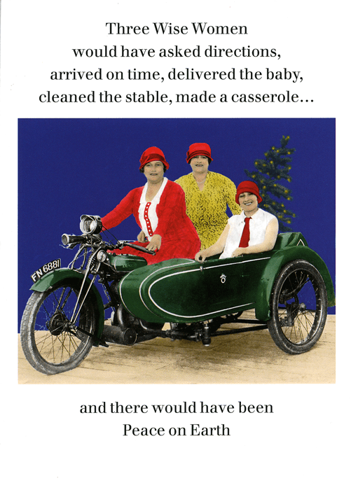 Land vehicle - Three Wise Women would have asked directions, arrived on time, delivered the baby, cleaned the stable, made a casserole... FN 688 and there would have been Peace on Earth